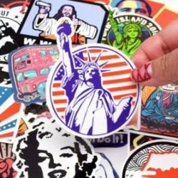 pack de 50 sticker retro pas cher