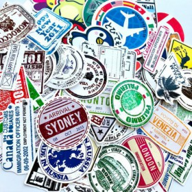 Pack de 100 stickers retro