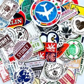 lot de 100 stickers vintage