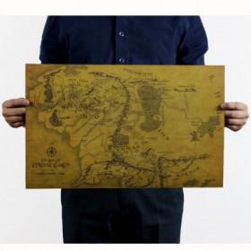 Carte Du Monde Seigneur Des Anneaux