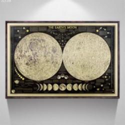 Carte De La Lune Vintage