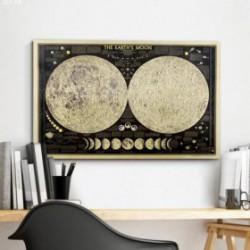 Carte Lune Globe Vintage 2018