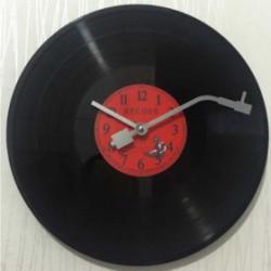 Horloge Murale Vinyle Rouge