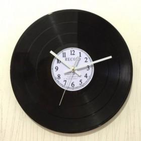 Horloge Murale Vinyle Blanc
