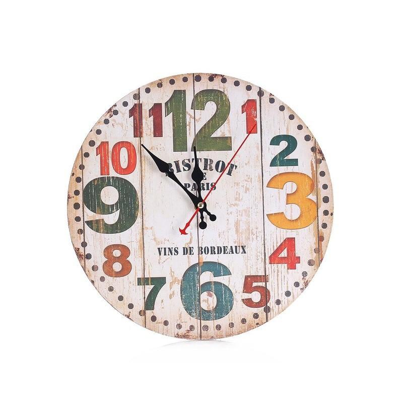 horloge murale vintage bistrot
