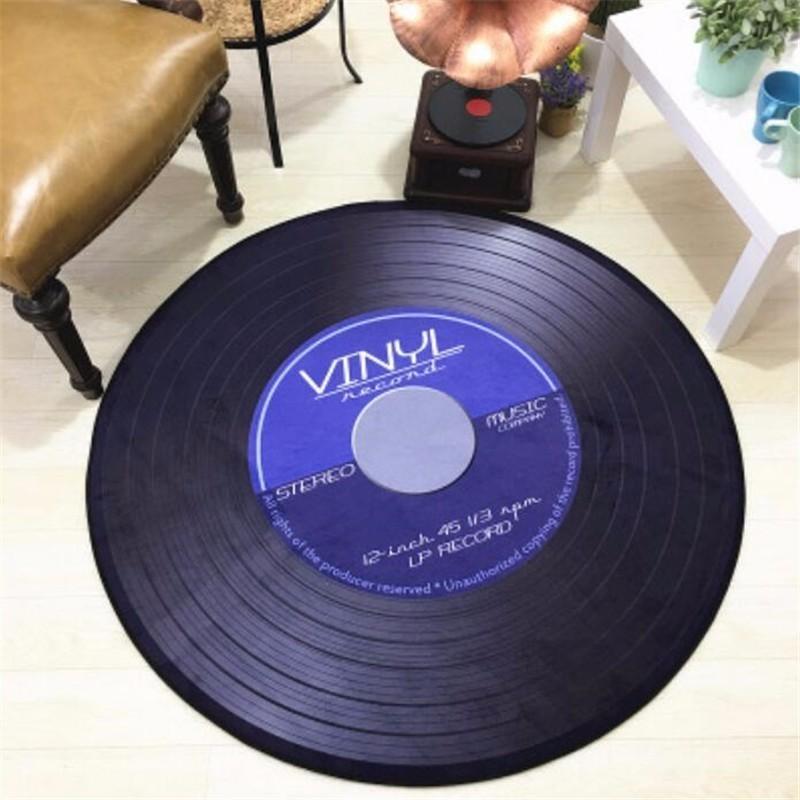 acheter tapis disque vinyle tapis de sol disque vinyle pas cher color blue size diameter 60cm