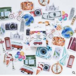 Stickers Vintage Voyage pack de 46