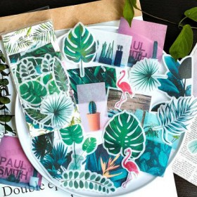stickers retro washi nature lot de 60