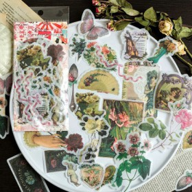pack de sticker vintage papier washi de 60