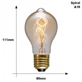 Ampoule Vintage E27 220 V 40 W  Spiral 111x60 mm