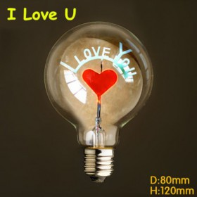 Ampoule  filament led E27 40 W 220 V I Love You