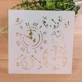 Pochoir Horloge Chiffre Romain 13 cm