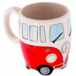 VW Bus Mug Rouge