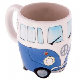 VW Bus Mug Bleu
