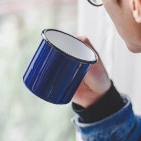 mug ceramique bleu