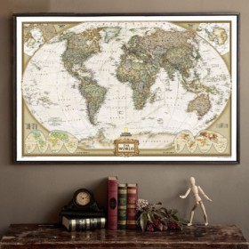 carte du monde retro