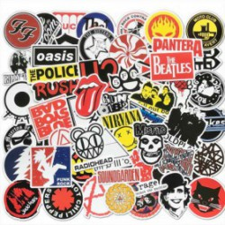 50 stickers retro