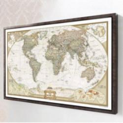 tableau carte du monde vintage