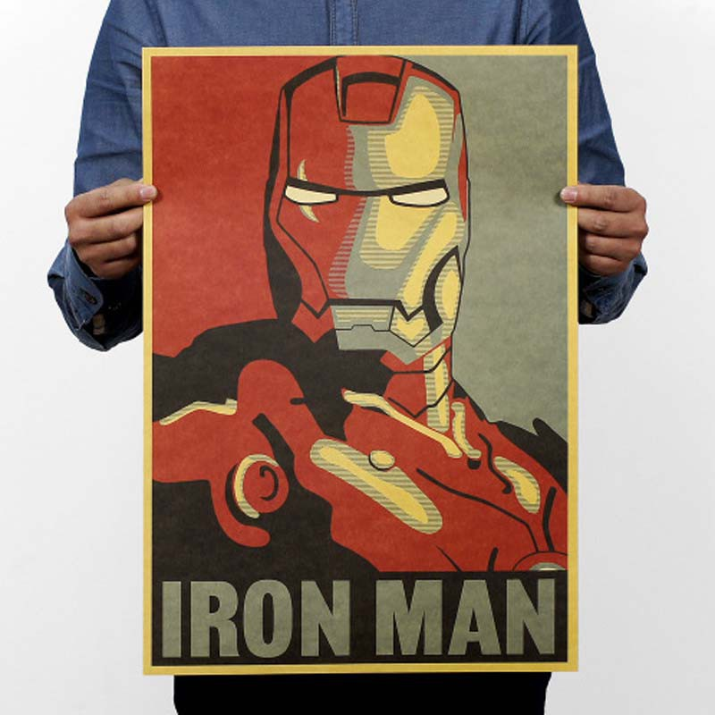 affiche vintage iron man